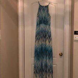 Ladies KENZIE Maxi turquoise dress 4